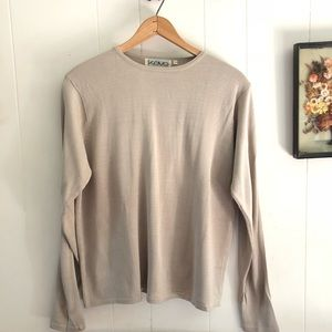 Vtg Silk Knit Top